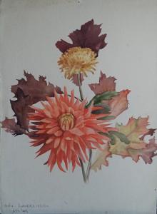 Boeket bloemen (o.a. Dahlia's)
