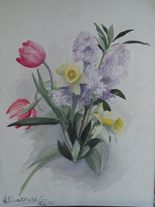 Boeket voorjaarsbloemen