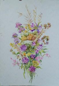 Bosje wilde bloemen