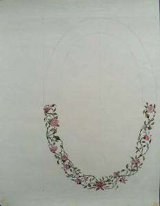 Bloemenkrans (onvoltooid)