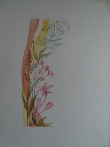 Decoratieve bloemenrand