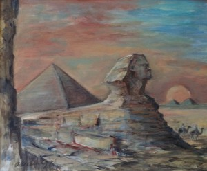 Piramides met Sfinx (Gizeh?)