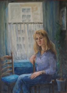 Portret van Desiree Kubbinga in studentenkamer