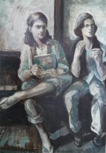 Dubbelportret van Juliette en Desiree Kubbinga