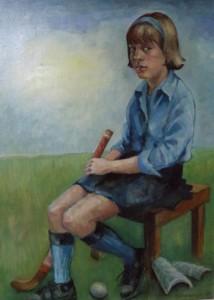 Portret van Juliette Kubbinga in hockeytenue