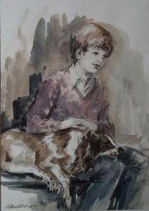 Fred met de hond