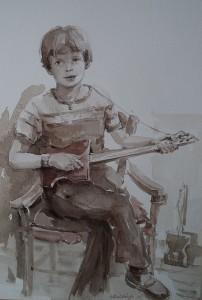Fred met gitaar