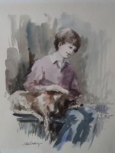 Dierenvriend of Fred met hond