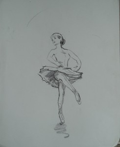 Ballerina in beweging