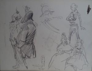 Advocaat en Brigadier, studies naar een toneelstuk