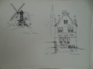 Brugge, Windmolen, Rozenhoed Kaai