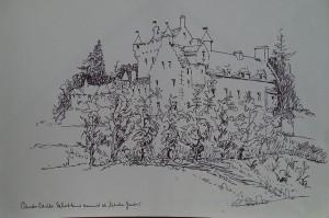 Canidor Caslte, Schotland, vanuit de 'Kitchen garden'