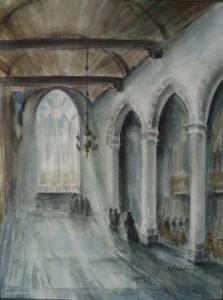 Interieur van de Dorpskerk te Wassenaar