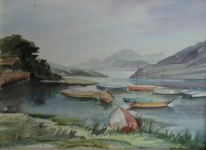 Bootjes in een bergmeer