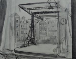 Amsterdamse brug (vanuit een huis gezien)