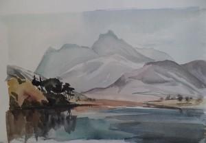 Berglandschap met meer