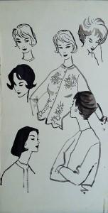 Modetekening: Studies naar vrouwengezichten