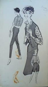 Modetekening: dames kledingsets