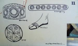 Studies naar sierraden (Addi's beschrijvingen bijgevoegd in map)