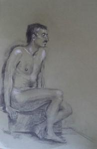 Bart, zittend