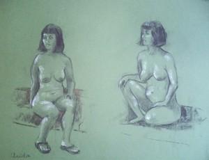 Christa, twee poses