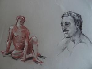 Bart, zittend en portret