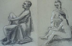 Drie modellen (Bart, Danielle en een man)