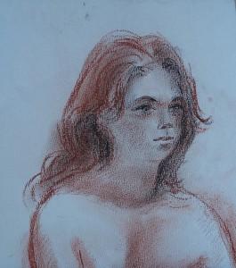 Deel van een vrouwelijk model
