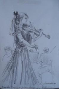 Concert Wassenaar Ensemble, Koosje van Haningen, viool
