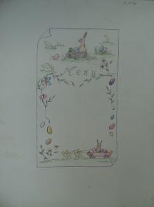 Ontwerp voor een menukaart voor Pasen