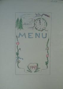 Ontwerp voor een menukaart voor Oudjaarsavond