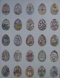 Paaseieren met verschillende ontwerpen