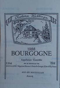 Ontwerp voor wijnetiket Chateau Kubbinga