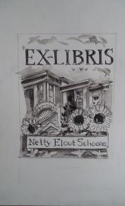 Ontwerp voor Ex-Libris Netty Elout Schoone