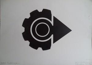 Grafisch ontwerp (Pijl van de vooruitgang van industrie en papier)