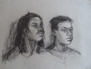 Dubbelportret twee jongemannen