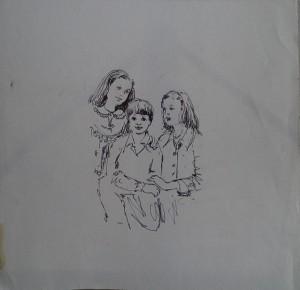 Groepsportret Desirée, Juliette, Fred Kubbinga