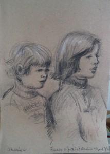 Freddi en Juliet kijken televisie
