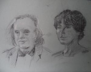 Dubbelportret van Dons van der Gronden en Goke Leverland