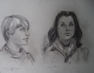 Dubbelportret van Anneke van Bellingen en Leny van Horssen