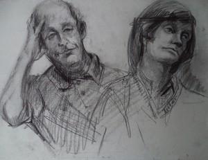 Dubbelportret van twee mannen