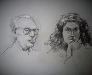 Dubbelportret man en vrouw