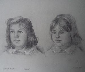 Dubbelportret van twee meisjes, Sanne en Sophie
