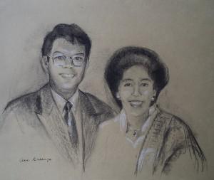 Dubbelportret van man en vrouw