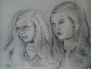 Dubbelportret van twee meisjes (zusjes?)