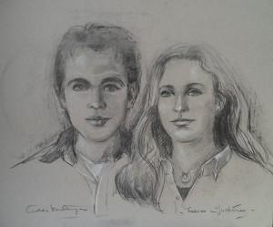 Dubbelportret van Fabian en Justine