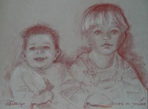 Dubbelportret van Olivier en Jasper