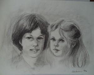 Dubbelportret van een jongen en een meisje