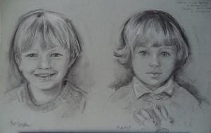 Dubbelportret van Niels en Puckje