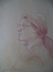 Dubbelzijdig portret (Mieke en Dominique Bernard)